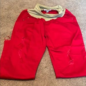 Jessica Simpson Pants - Jessica Simpson maternity distressed pants size M
